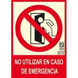 SEÑAL NO UTILIZAR EN CASO...