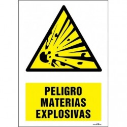 PELIGRO MATERIAS EXPLOSIVAS