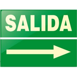 RÓTULO SALIDA (Flecha Derecha)