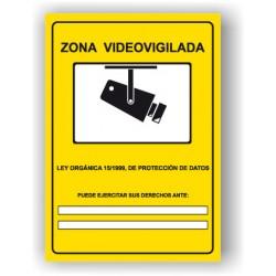 "Rótulo ZONA VIDEOVIGILADA"""""