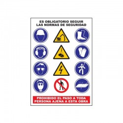 Rótulo de Normas de Seguridad