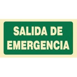 SEÑAL SALIDA DE EMERGENCIA