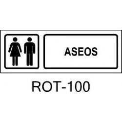 Rótulo Aseos Hombres y Mujeres