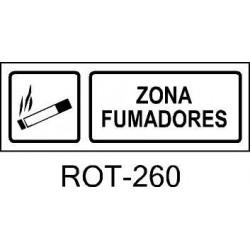 Rótulo de Zona Fumadores