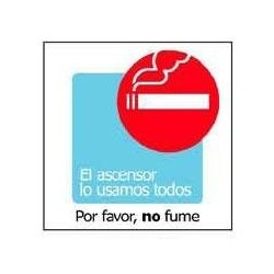 "RÓTULO POR FAVOR, NO FUME""..."