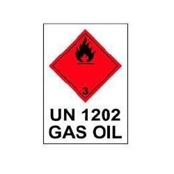 RÓTULO GAS OIL - UN 1202