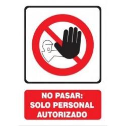 SEÑAL DE PROHIBIDO PASAR
