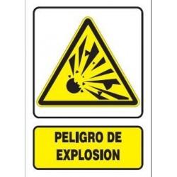 SEÑAL PELIGRO DE EXPLOSIÓN