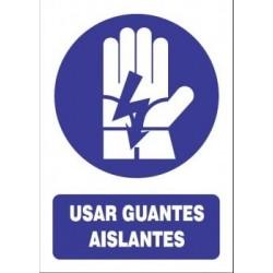SEÑAL USO DE GUANTES AISLANTES