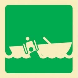 Señal de bote de rescate